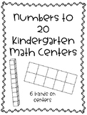 Kindergarten Numbers to 20 Math Centers