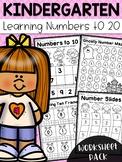 Kindergarten Numbers to 20 Worksheet Pack - Distance Learning
