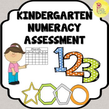 Kindergarten Numeracy Assessment