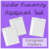 Kindergarten Numeracy Student Check-Lists