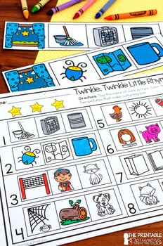 Kindergarten Nursery Rhyme Centers for Math and Literacy Activities