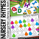 Kindergarten Nursery Rhyme Centers for Math and Literacy A