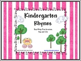 Kindergarten Nursery Rhymes