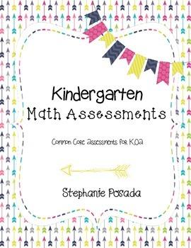 Kindergarten OA Math Assessments