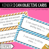 Kindergarten Objective Cards (I Cans): STRIPES, Common Cor