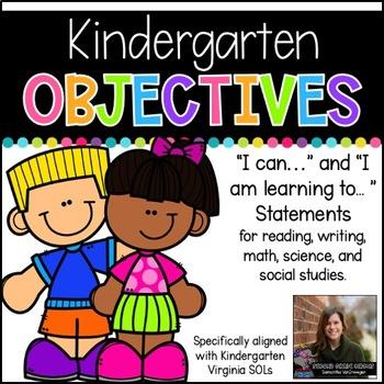 Kindergarten Objectives (Aligned to Virginia SOLs)