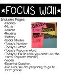 Kindergarten Objectives Display/Focus Wall
