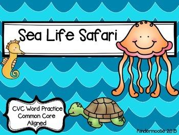 Kindergarten Ocean Phonics- CVC Sea Life Safari