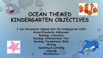 Kindergarten Ocean Themed Standards