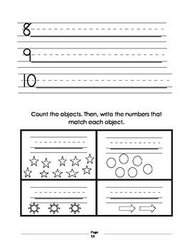 Kindergarten October Homework Packet