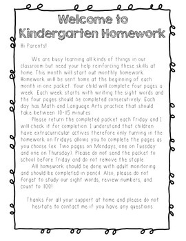 October Kindergarten Morning Work or Homework