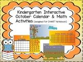 Kindergarten October Interactive Calendar and Math Activities for SMART Notebook