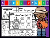 Kindergarten October Language Arts Freebie! (Common Core A