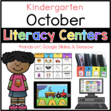 Kindergarten October Literacy Centers