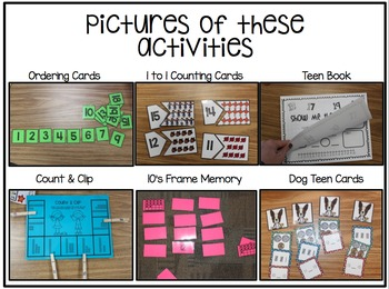 Kindergarten October Math Packet - Stations, Activities, Mini Lessons & Games