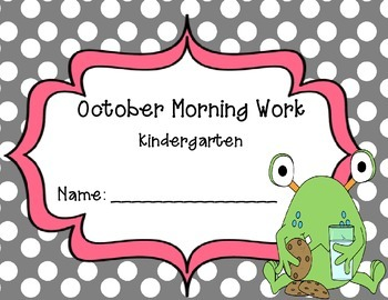 Kindergarten October Morning Work