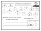 Kindergarten October Reading Log