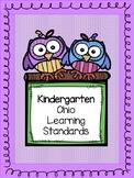 Kindergarten Ohio Learning Standards