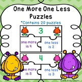 Kindergarten One More One Less Game Puzzles Activity Adding and Subtracting One