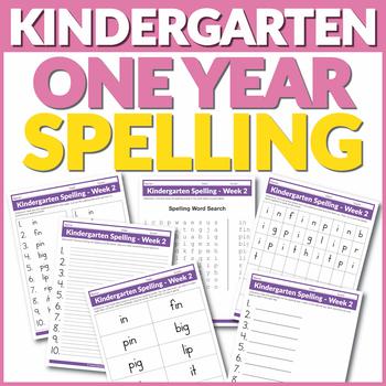 Kindergarten One Year Spelling