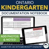 Kindergarten Four Frames OneNote Documentation Notebook