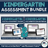 BUNDLE: Kindergarten Four Frames OneNote Documentation & Microsoft Forms Tracker