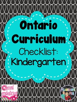 Kindergarten Ontario Curriculum Check list