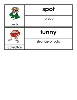 Kindergarten Open Court Reading Unit 11 Vocabulary