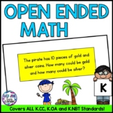 Kindergarten Open Ended Math Problems - Common Core Aligned