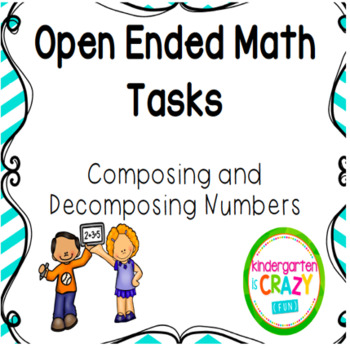 Kindergarten Open Ended Math Task set