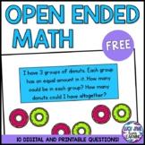 Kindergarten Open Ended Number Maths Problems FREEBIE! {NSW Curriculum}