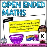 Kindergarten Open Ended Number Maths Problems - NSW Curriculum