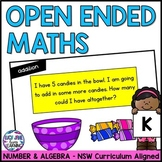 Kindergarten Open Ended Number Maths Problems - NSW Curriculum