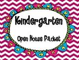 Kindergarten Open House Packet