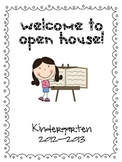 Kindergarten Open House Parent Packet Cover Page