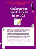 Kindergarten Open House PowerPoint