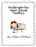 Kindergarten Open House Toolbox