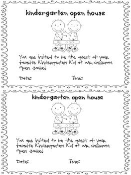 Kindergarten Open House Toolbox