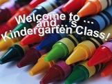 Kindergarten Open House or Meet The Teacher PowerPoint