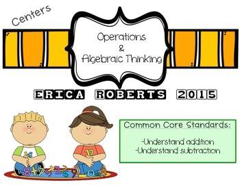 Kindergarten Operations & Algebraic Thinking Centers (comm