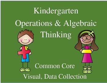 Kindergarten Operations & Algebraic Thinking-Common Core-Visual, Data Collection