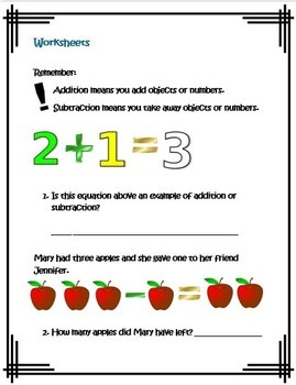 Kindergarten Common Core Operations and Algebraic Thinking-Mystery Numbers