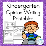 Kindergarten Opinion Writing