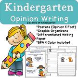 Kindergarten Opinion Writing Common Core Aligned