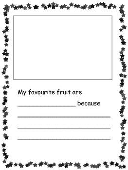 Kindergarten Opinion Writing - My Favourite Fruit