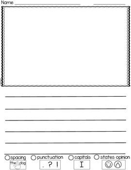Kindergarten Opinion Writing Paper