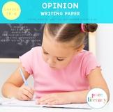 Kindergarten Opinion Writing Paper Pack Portrait Edition