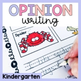 Kindergarten Opinion Writing Prompts/Worksheets