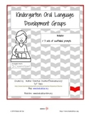 Kindergarten Oral Language Development Activities