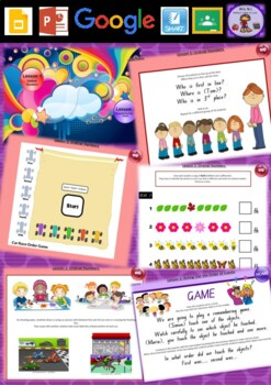 Kindergarten Ordinal Numbers Smart Notebook and Unit of Wo